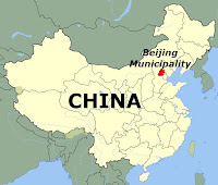 China and Beijing (map)