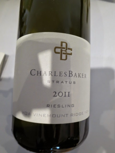 Wine label of 2011 Charles Baker Picone Vineyard Riesling from VQA Vinemount Ridge, Niagara Peninsula, Ontario, Canada