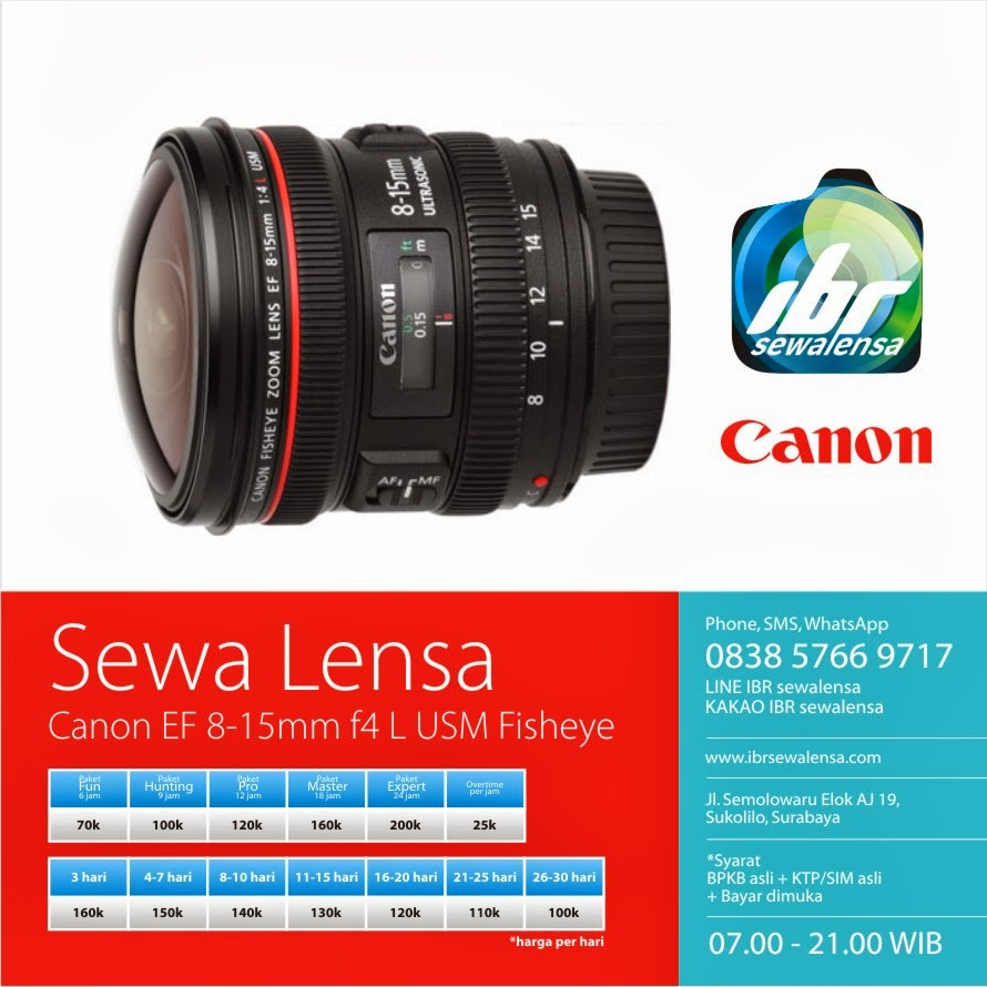 Canon 8-15mm F4 L USM Fisheye