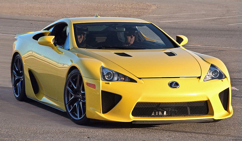 The Lexus Lfa Supercar Debuted In Production Model Form 2009