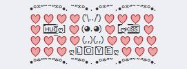 lindo conejito corazones amor