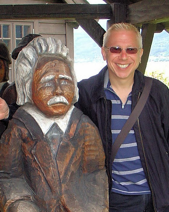 Me and Edvard Grieg in Norway