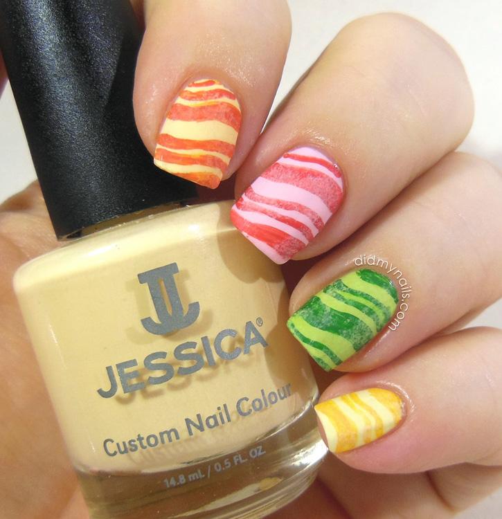 Fruit Stripe Gum nail art