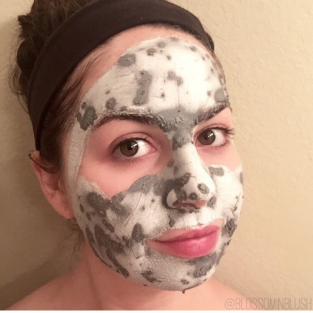 a picture of Sephora Collection Purifying & Mattifying Mud Mask (drying process)