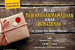 Meraih Keberkahan Ramadhan dengan Bersedekah