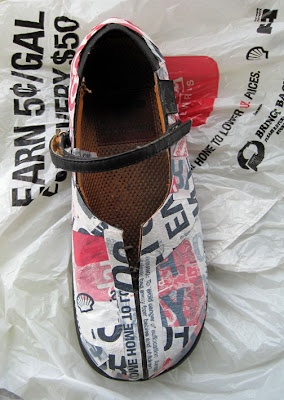 Stuff You Can't Have: Fused Plastic Upcycled Shoes