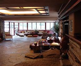 soñando con una casa de ensueño, amplia, diáfana, una especie de mansión moderna, al estilo de viviendas de Frank Lloyd Wright