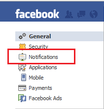 Disable Facebook Email Notification