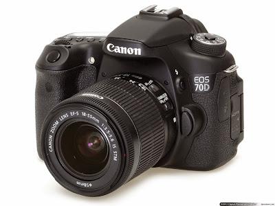 Canon EOS 70D tampak muka