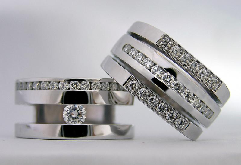 Limpiar anillo de oro blanco con diamantes