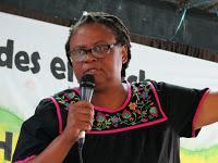 """Miriam Miranda: """"Quieren desaparecernos para adueñarse de nuestros territorios"""""""