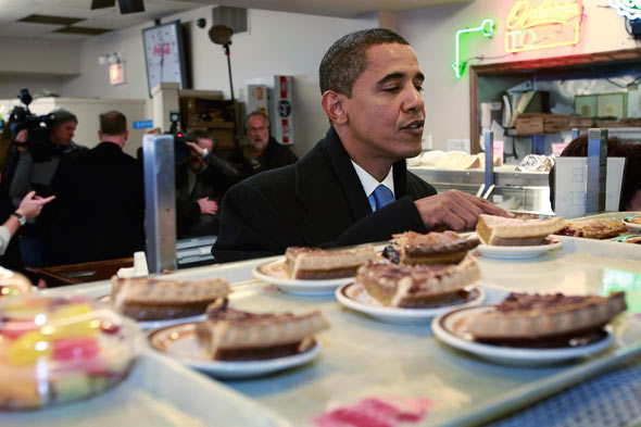 Obama loves pie | Nothing in the House