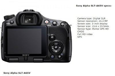 Sony Alpha SLT-A65V DSLR camera