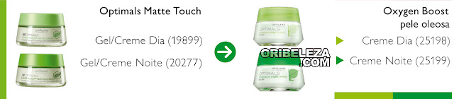 Correspondência Optimals Oxygen Boost para a Pele Normal/Mista