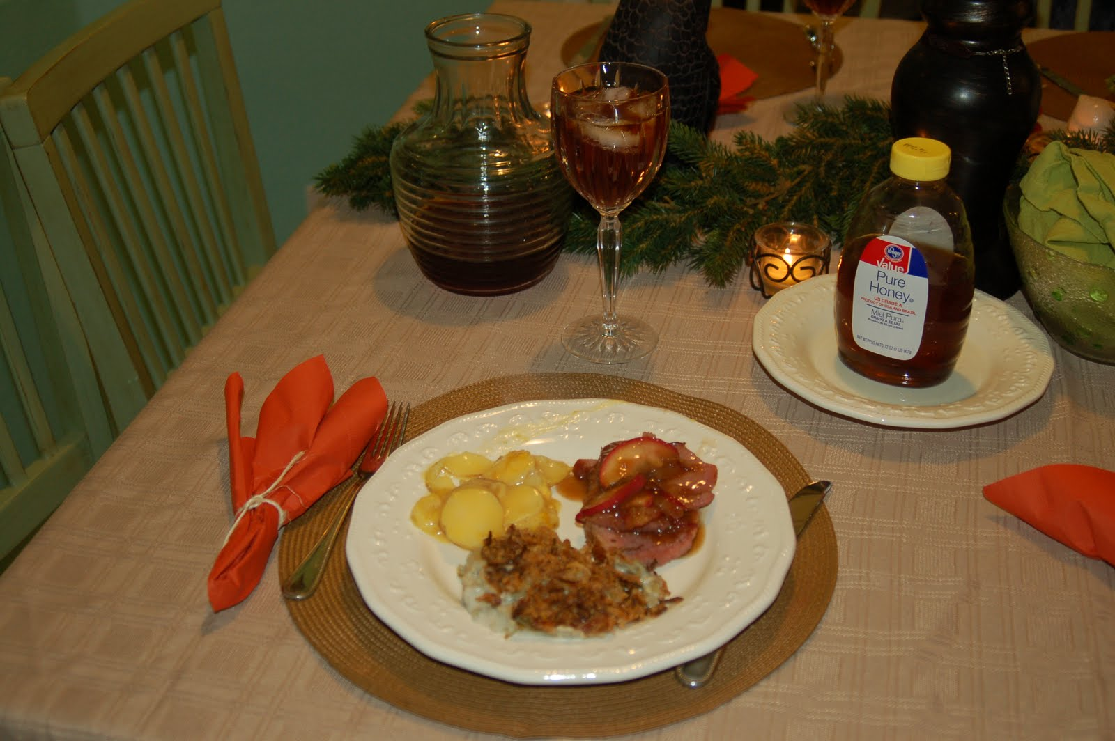 christmas ham dinner table - photo #31