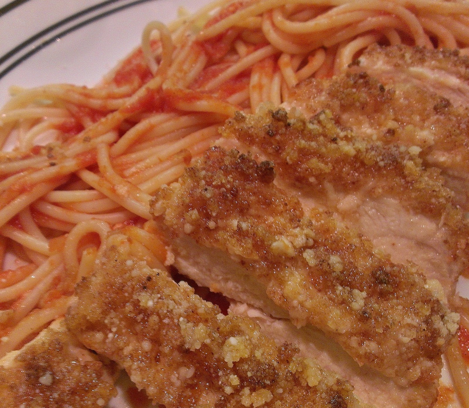 The Hungry Hood: Parmesan Crusted Chicken