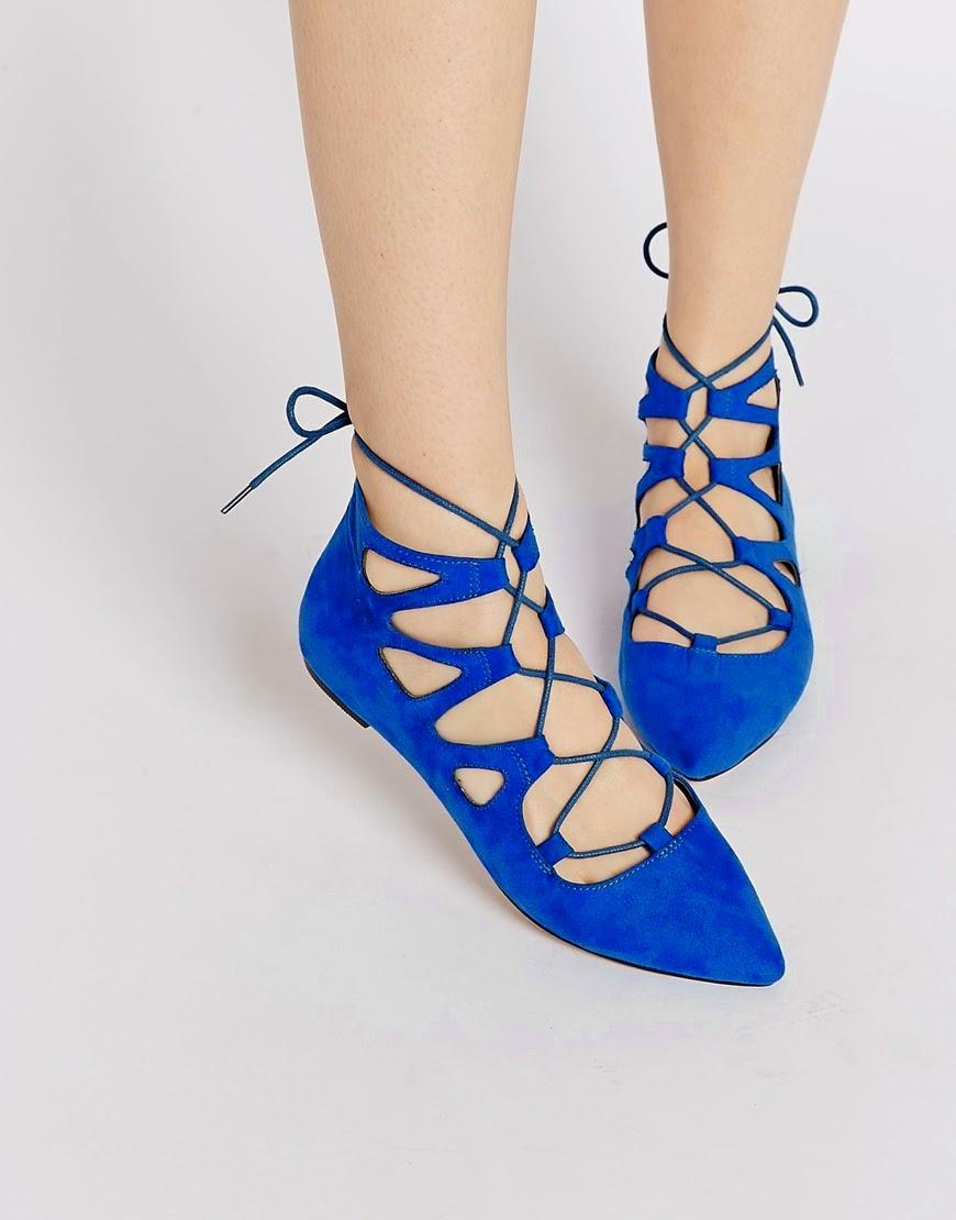 blue lace flats, blue lace tie flats,