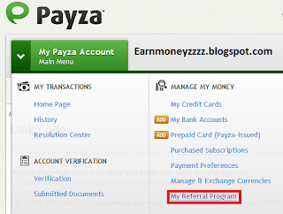 Payza Referral Program