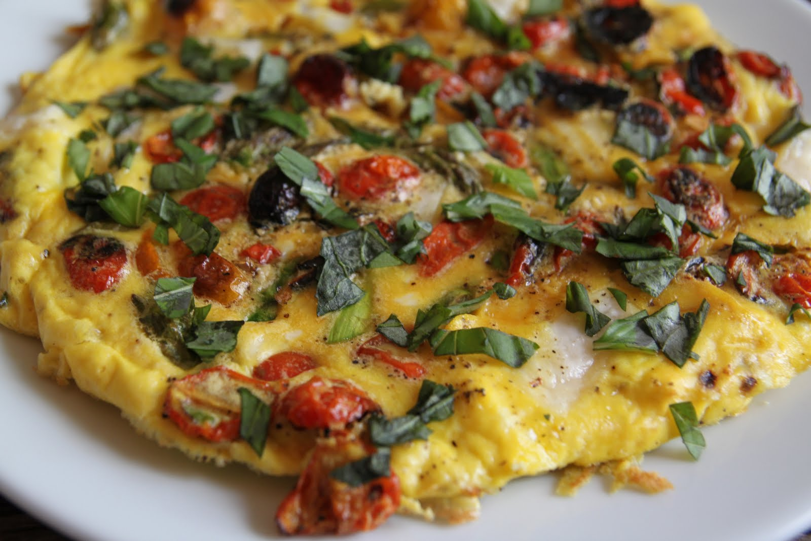 ... Crosby Kitchen: Oven Roasted Tomato, Asparagus, & Goat Cheese Frittata