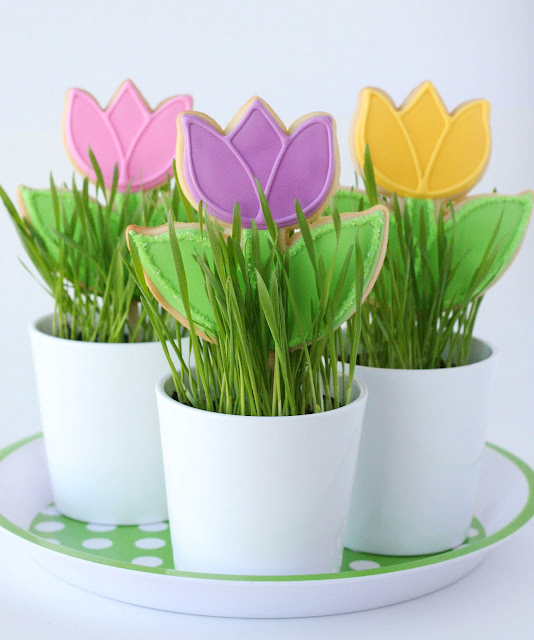 Spring Tulip Cookies – Glorious Treats