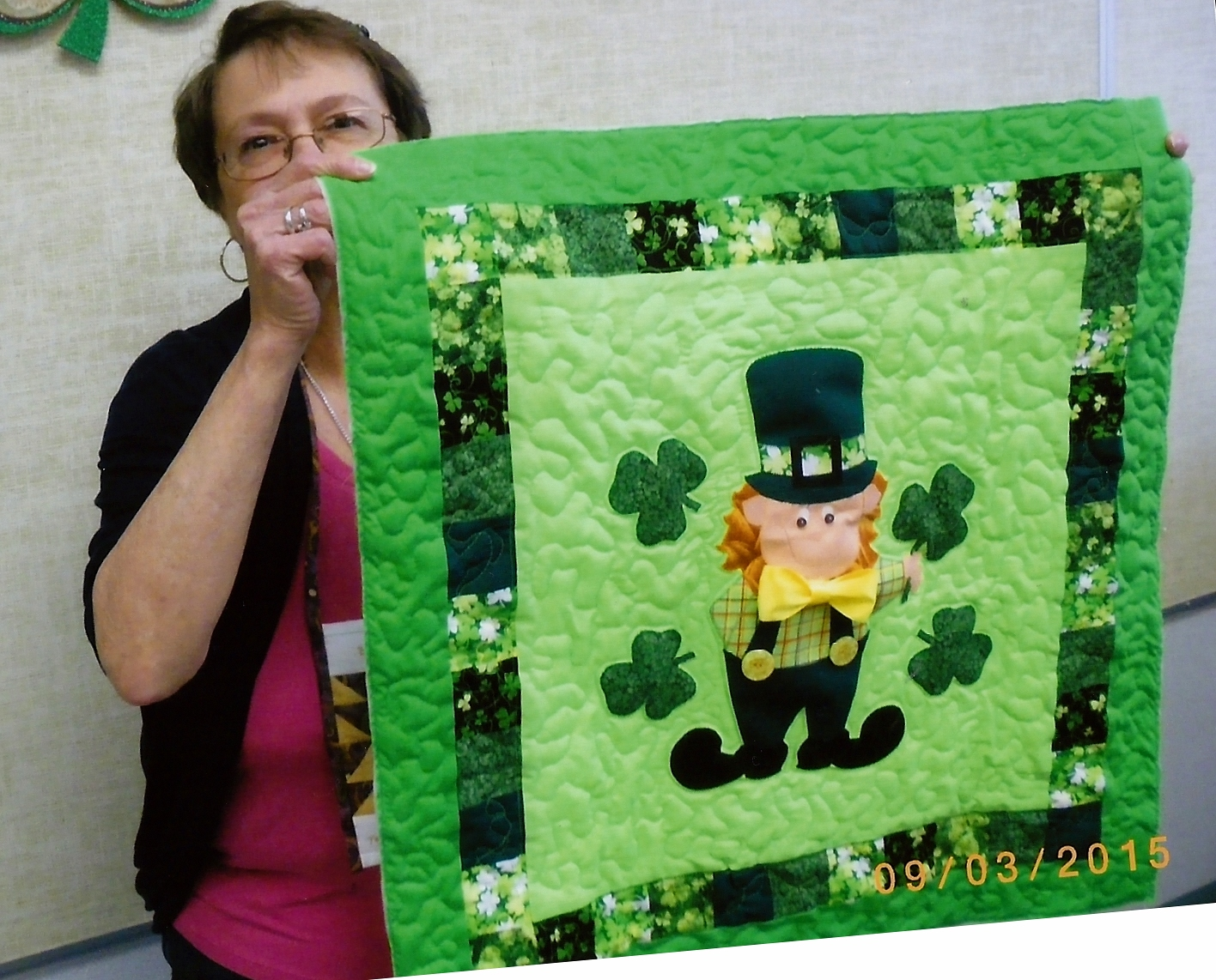 Cardston Temple City Quilters Guild St Patricks Day Wall Hanging