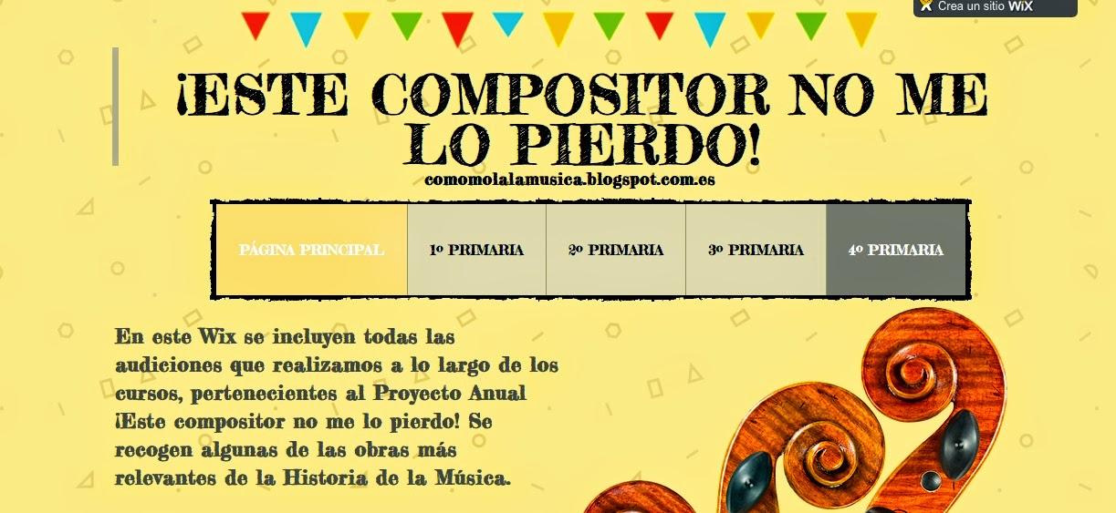 """Proyecto """"Este Compositor no me lo pierdo"""""""