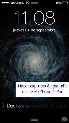 Captura pantalla iphone