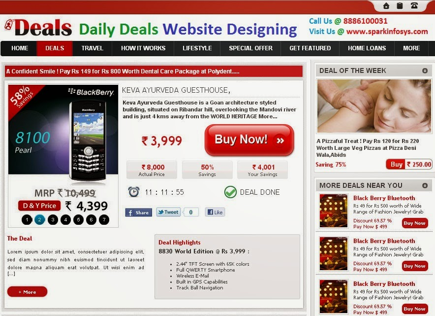 daily deals websites, daily deals website design, website development company, web designing company, website development