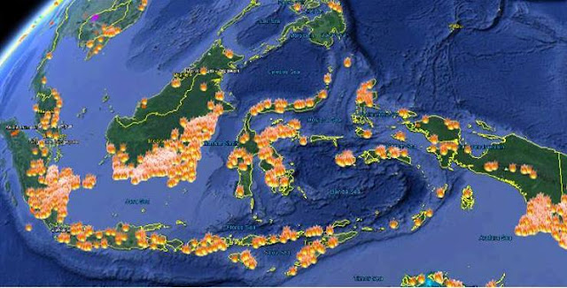 Ada Tiga Titik Api Bakar Hutan di Wasior, Papua Barat
