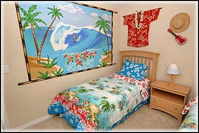 Flowers in nanopics bedroom decor beach theme bedroom for Island decor bedroom