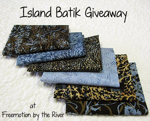 Island Batik Giveaway at Freemotion by the River