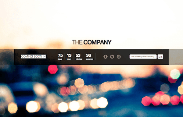 Free Coming Soon Page Template