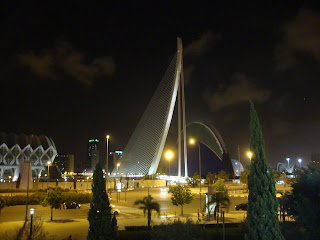Valencia City night landscape photo - Spain