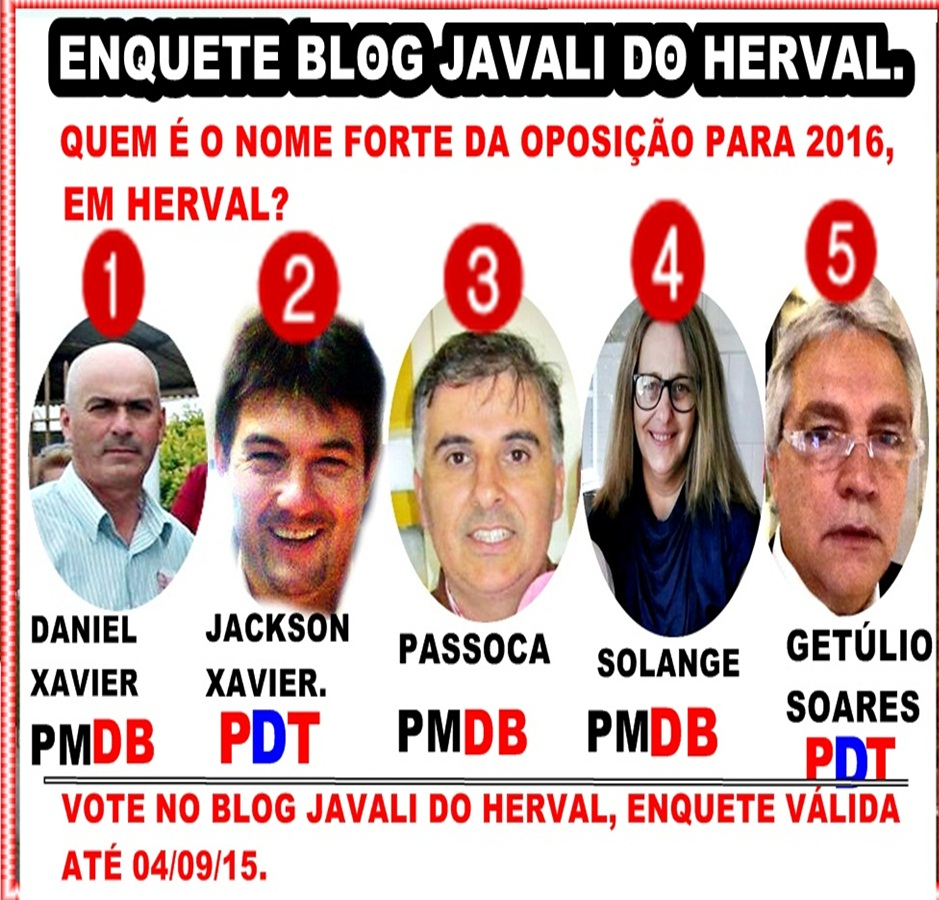 ENQUETE NO BLOG.