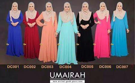 Koleksi Muslimah Paling Menawan Jubah Umairah Kini Available Dalam Pelbagai Size SS - XXL
