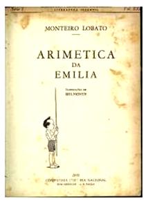 capa do livro (obra) de monteiro lobato - emilia aritmética -1935