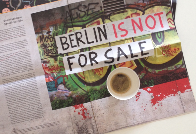 CB.e, Berlin is not for Sale, Samstagskaffee, Vipp