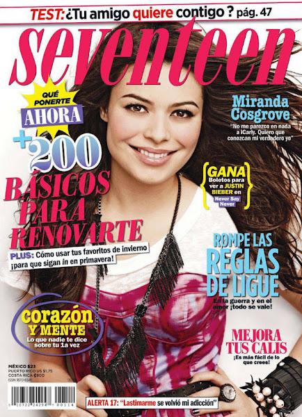 Miranda Cosgrove Portada Revista Seventeen Mexico