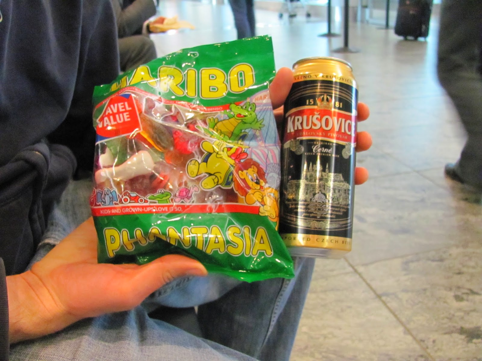 Gummi Candy and Krusovice Beer
