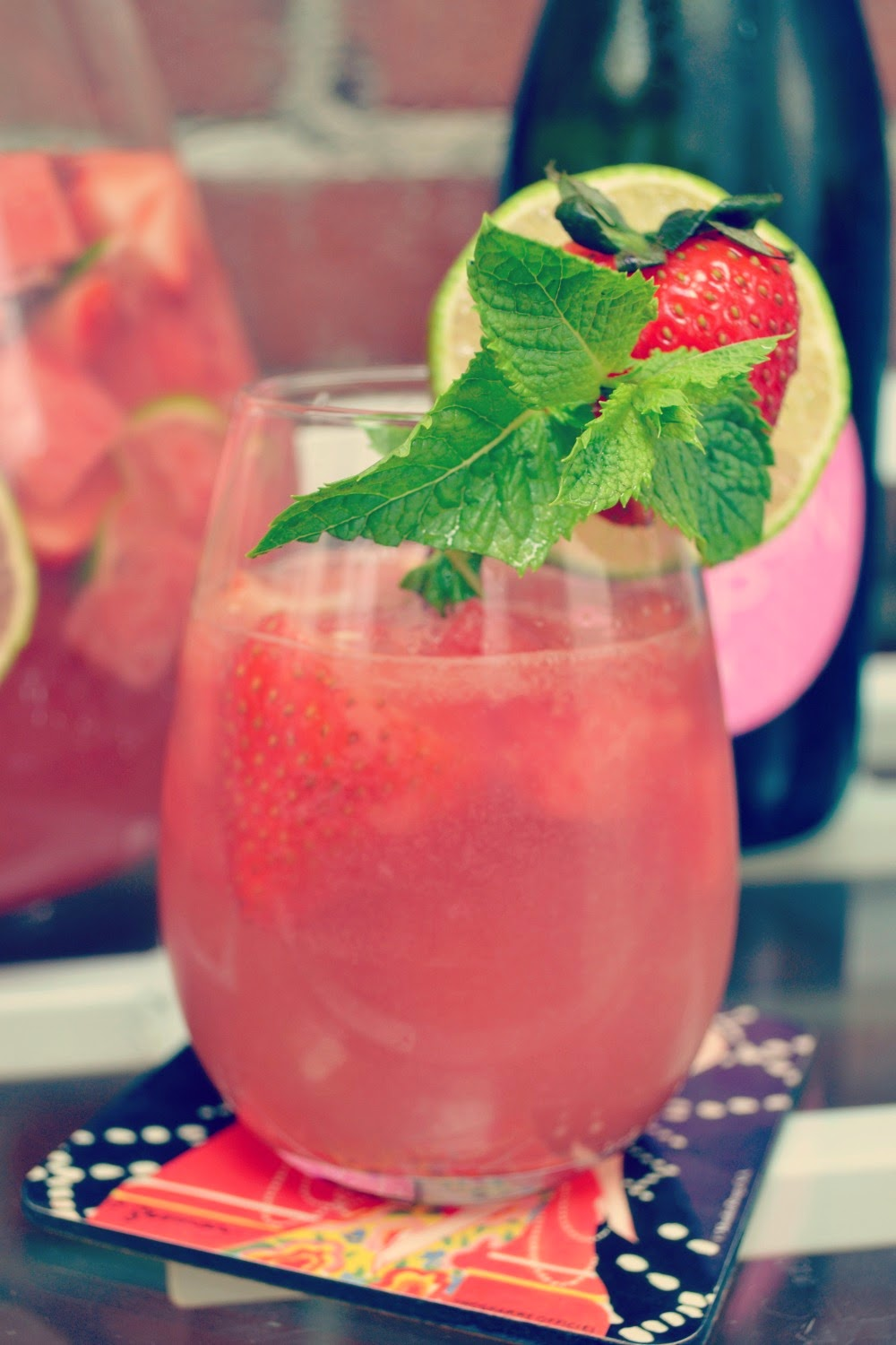 Sparkling Watermelon Strawberry Sangria recipe