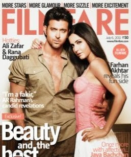 Hrithik, Katrina on the cover of Filmfare
