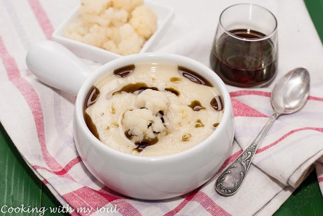 Supa crema de conopida cu ulei de dovleac