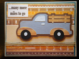 Cricut, Just Because Cards, Old Timer Truck
