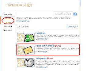 kelebihan contact form blogger