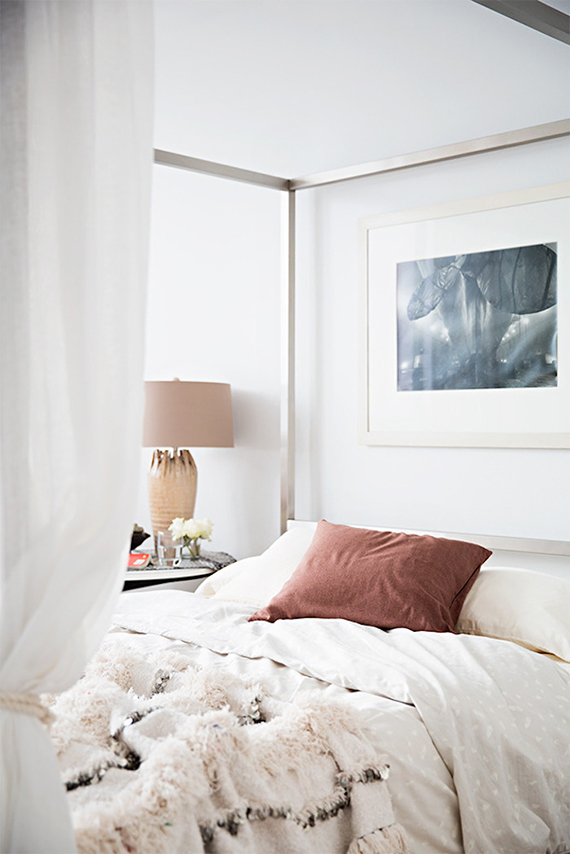 Luxurious cozy bed | Design by Jeremiah Brent, image by Brittany Ambridge for Domino