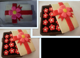 Rectangle Box with 3 biji Choc.