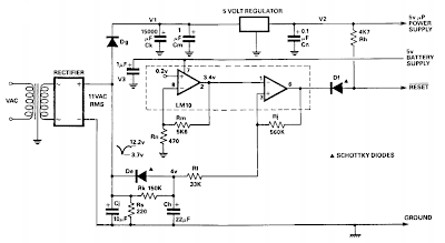Simple Microprocessor power supply watchdog circuit Diagram