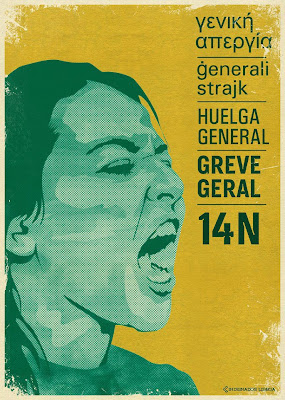 Greve Geral, General Strike, Huelga General, 14 Novembro 2012, European Strike, Portugal, Espanha, Itália, Grécia, Chipre, Malta