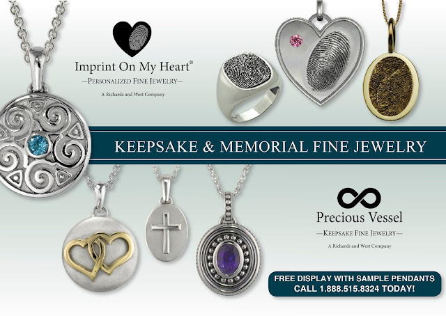 Imprint On My Heart Fingerprint Jewelry and Precious Vessel Cremation Ash Pendants