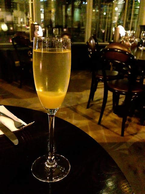 An aperitif - Classic Bellini (£6.50) Browns, Cardiff